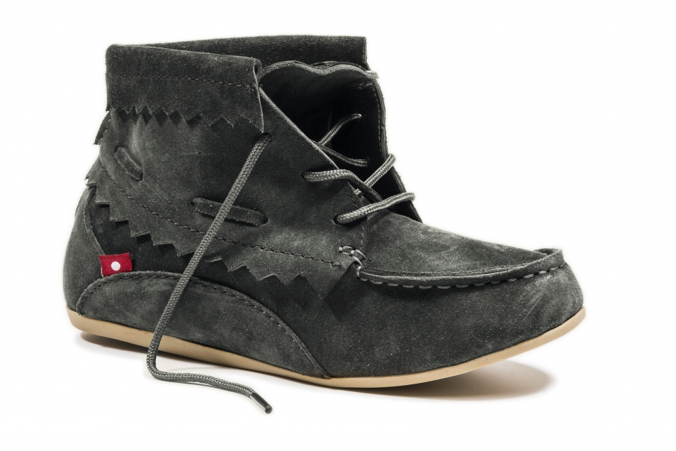 HIRARI Dark Charcoal Grey Suede